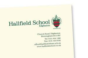 Hallfield Stationery Detail